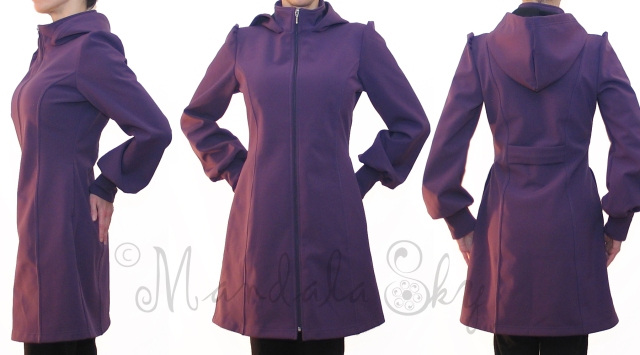 Purple Rain Jacket by Mandala Sky